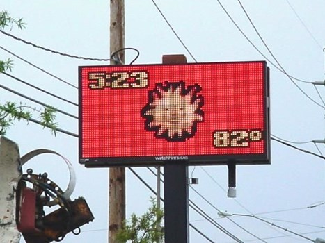 Time and Temperature LED Signs
